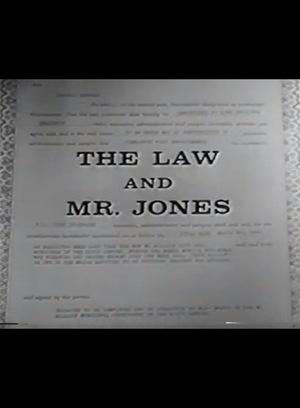 Серіал «Закон и мистер Джонс» (1960 – 1962)