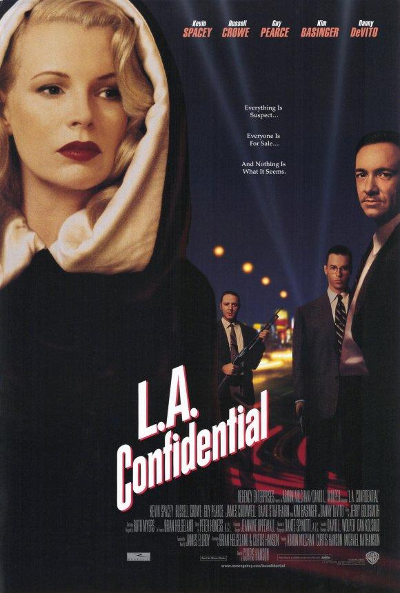 Фильм «Секреты Лос-Анджелеса» (1997): Ким Бейсингер, Рассел Кроу, Гай Пирс, Кевин Спейси 580x860