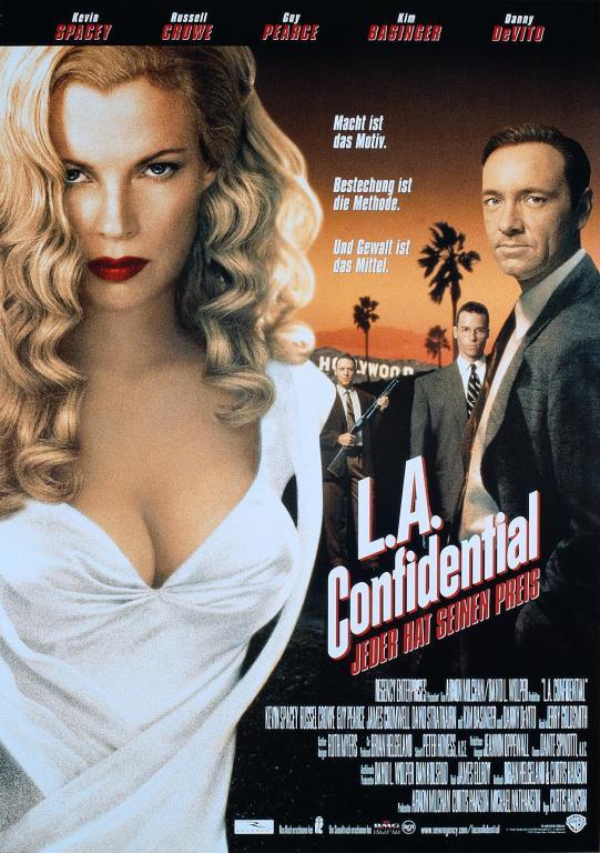 Фильм «Секреты Лос-Анджелеса» (1997): Ким Бейсингер, Рассел Кроу, Гай Пирс, Кевин Спейси 541x768