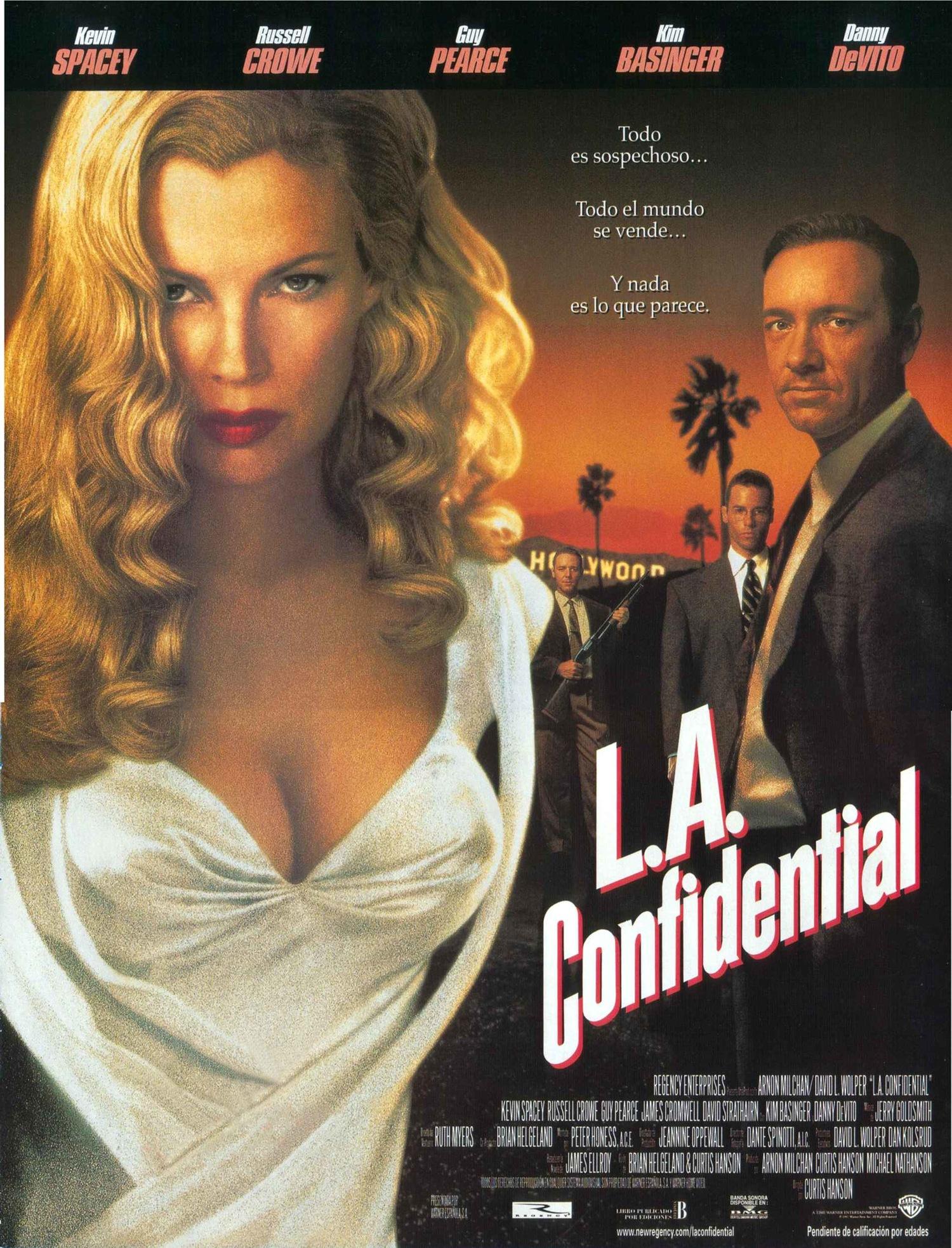 Фильм «Секреты Лос-Анджелеса» (1997): Ким Бейсингер, Рассел Кроу, Гай Пирс, Кевин Спейси 1500x1967