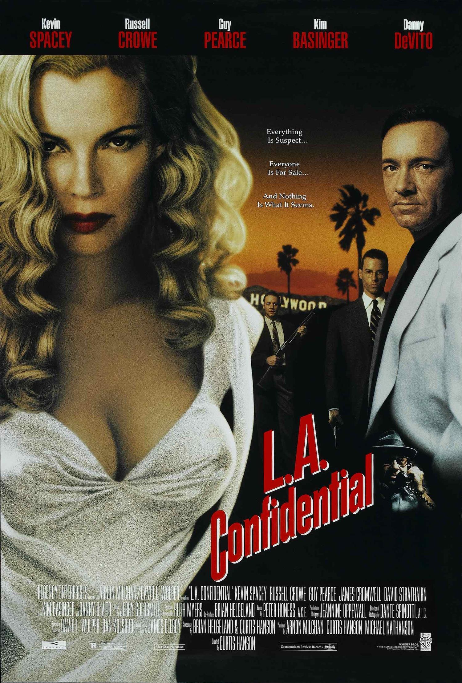 Фильм «Секреты Лос-Анджелеса» (1997): Ким Бейсингер, Гай Пирс, Рассел Кроу, Кевин Спейси 1500x2218