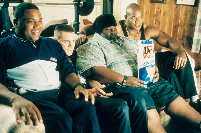 Фильм «Я, снова я и Ирэн» (2000): Энтони Андерсон, Джим Керри, Джерод Миксон, Монго Браунли 1500x997