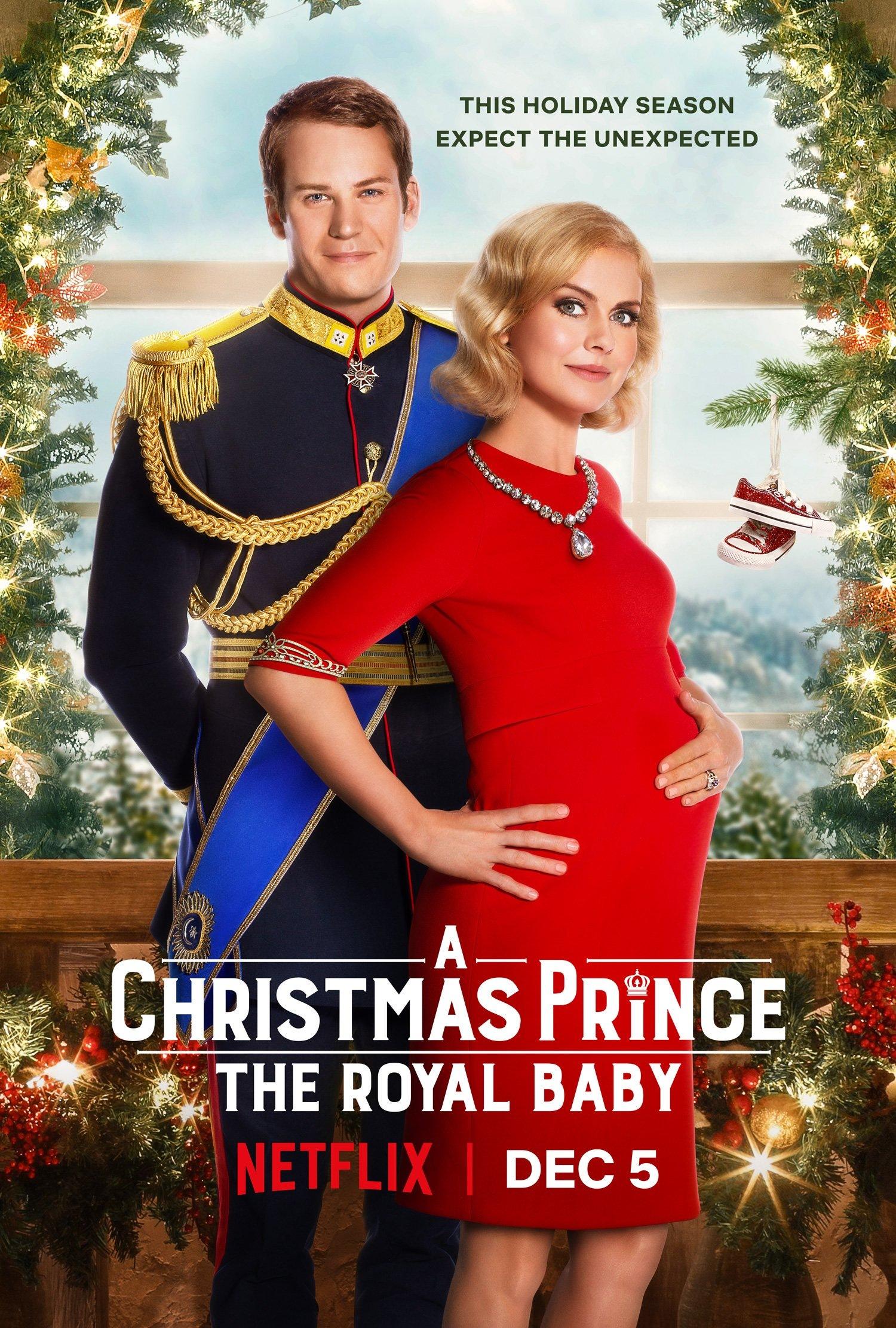 Фильм «Принц на Рождество: Королевское дитя» (2019): Роуз МакАйвер, Бен Лэмб 1500x2222