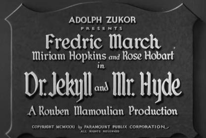 «Доктор Джекил и мистер Хайд» — кадри