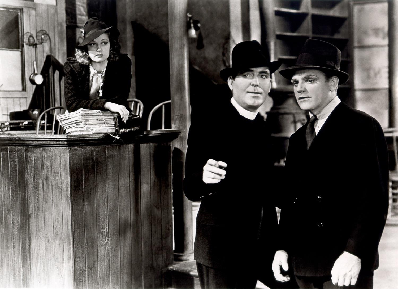 Фильм «Ангелы с грязными лицами» (1938): Джеймс Кэгни, Пэт О'Брайен, Энн Шеридан 1500x1092