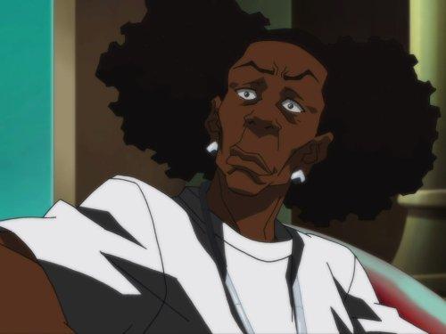 Сериал «Гетто» (2005 – 2014): 3 сезон, 1 эпизод — «Это чёрный президент, Хьюи Фримен» (It's a Black President, Huey Freeman) 500x375