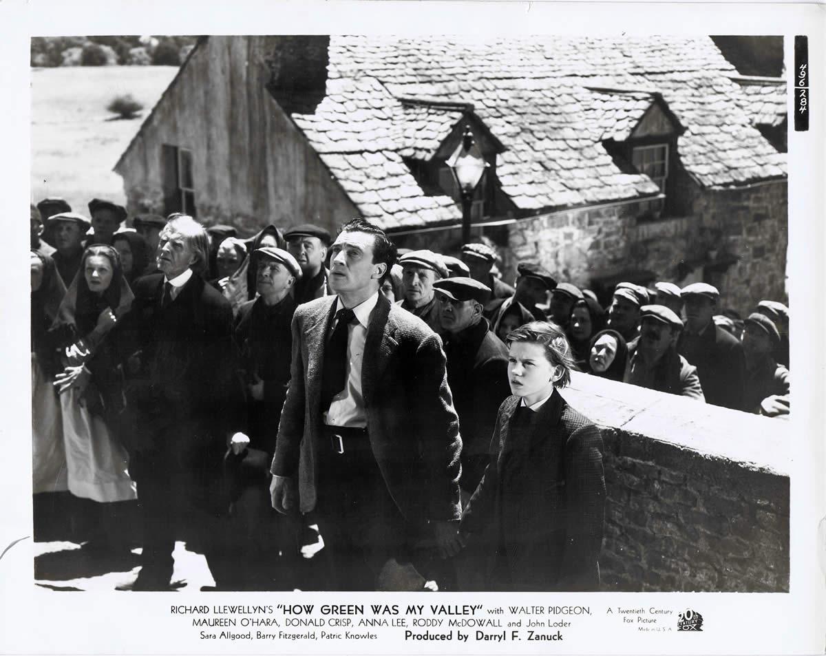Фильм «Как зелена была моя долина» (1941): Уолтер Пиджон, Родди МакДауэлл 1200x953