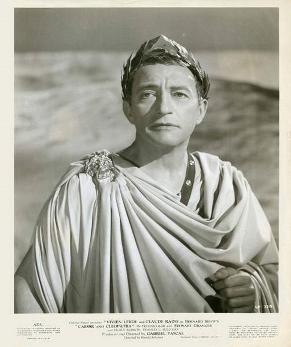 Фільм «Цезарь и Клеопатра» (1945): Клод Рэйнс 600x716