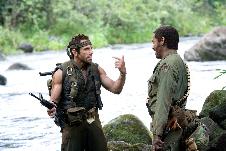 Фільм «Грім у тропіках» (2008): Роберт Дауні-молодший, Бен Стіллер 1500x1001