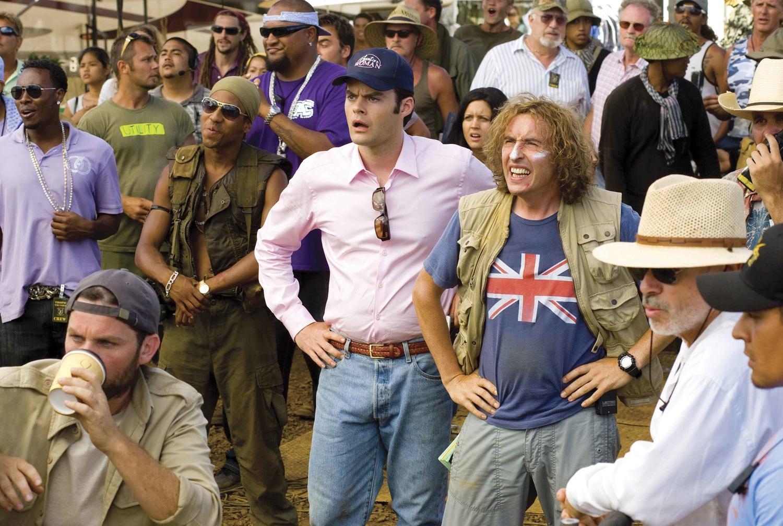 Фільм «Грім у тропіках» (2008): Стів Куґан, Білл Гейдер, Брендон Т. Джексон, Девід Прессман 1500x1009