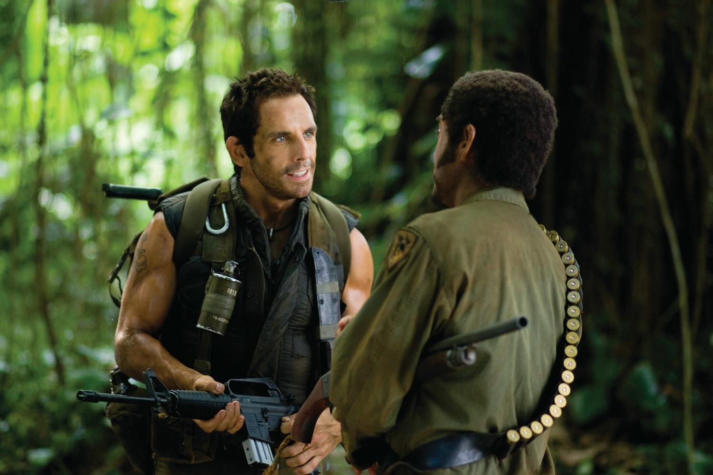 Фільм «Грім у тропіках» (2008): Бен Стіллер, Роберт Дауні-молодший 1500x1000