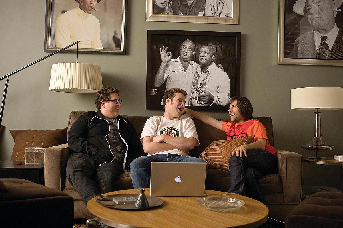 Фільм «Кумедні люди» (2009): Джона Гілл, Сет Роґен, Джейсон Шварцман 1200x800