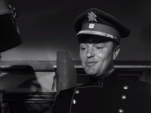 Серіал «Альфред Гічкок представляє» (1955 – 1962): Петер ван Ейк 1 сезон, 21 епізод — «Охранное свидетельство» (Safe Conduct) 500x375
