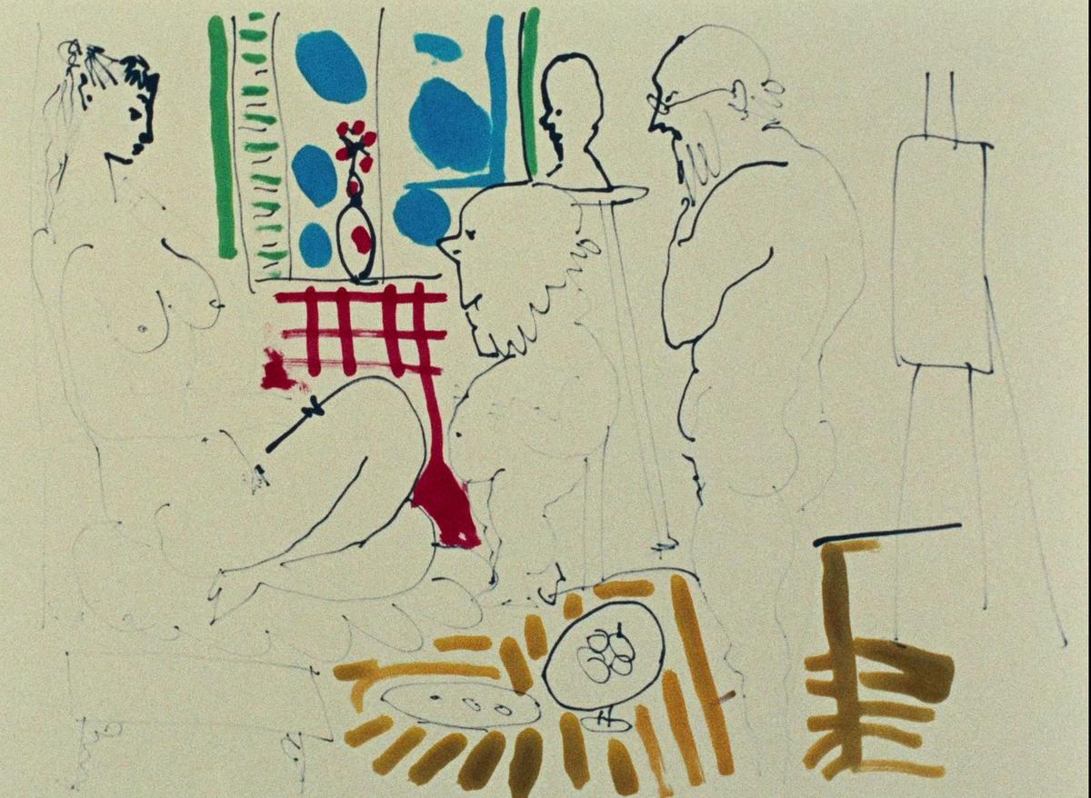 Фільм «Тайна Пикассо» (1956): 1200x878