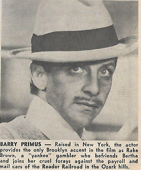 Фільм «Берта по прозвищу «Товарный вагон»» (1972): Беррі Праймус 582x701