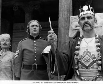 «Людина, що хотіла стати королем» — кадри