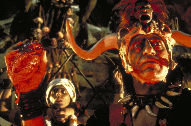 Фильм «Индиана Джонс и Храм судьбы» (1984): Низвар Каранж, Амриш Пури 1500x995